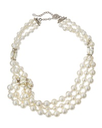 Knotted Three Strand Simulated Pearl Necklace Jose And Maria Barrera