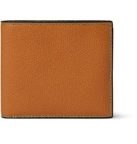 Valextra Pebble Grain Leather Billfold Wallet Tan