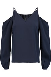 W118 By Walter Baker Balinda Off The Shoulder Crepe Top Midnight Blue