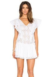 Parker Beach Antigua Embellished Cover Up White