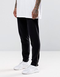 Asos Skinny Joggers With Gold Zip Cuffs Black