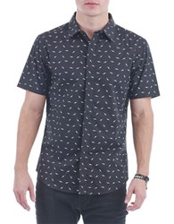 Sovereign Code Gill Short Sleeved Button Shirt Black