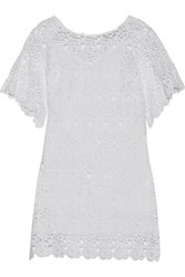 Miguelina Grace Cotton Guipure Lace Coverup White