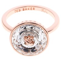 Ted Baker Keriann Crystal Button Ring Rose Gold