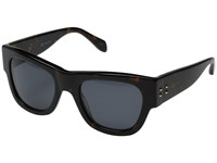 Alexander Mcqueen Am0033s Dark Havana Smoke Fashion Sunglasses Black