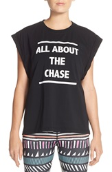Minkpink 'All About The Chase' Muscle Tee Black