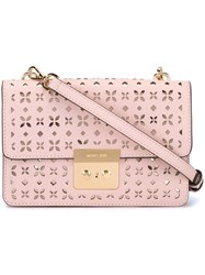Michael Michael Kors Small 'Sloan' Crossbody Bag Pink And Purple