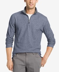Izod Men's Textured Quarter Zip Sweater Anchor