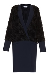 Derek Lam Wrap Front Faux Fur Coat