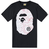 A Bathing Ape Pencil Neon Camo Big Head Tee Black