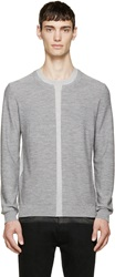 Mcq By Alexander Mcqueen Grey Two Tone Wool Sweater