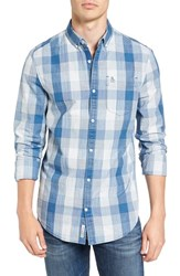 Original Penguin Men's Extra Slim Fit Check Chambray Shirt