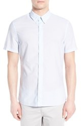 J. Lindeberg 'Dani' Trim Fit Short Sleeve Sport Shirt Blue