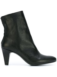 The Last Conspiracy Back Zip Ankle Boots Black