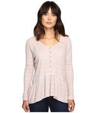 Free People Coastline Tee Lavender Women's T Shirt Purple