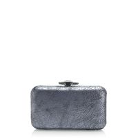 J.Crew Pre Order Crackled Leather Minaudiere Silver Mirror