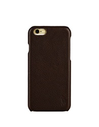 Polo Ralph Lauren Pebbled Leather Iphone Case Brown