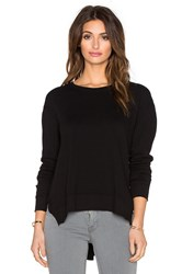 Wilt French Terry Slouchy Slit Sweatshirt Black