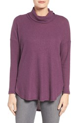 Bobeau Women's Cowl Neck Sweater Plum