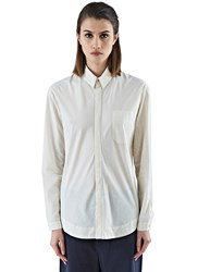 Marvielab Long Sleeved Patch Pocket Shirt White