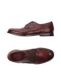 Fabi Footwear Lace Up Shoes Men Maroon