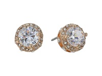 Betsey Johnson Small Encrusted Stud Crystal Earring Gray