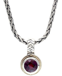 Effy Collection Balissima By Effy Garnet Pendant Necklace In Sterling Silver And 18K Gold 2 Ct. T.W.