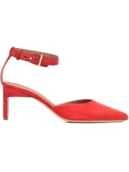 Rosetta Getty Ankle Strap Pumps Red
