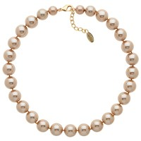 Finesse Faux Pearl Necklace Bronze