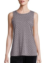 Current Elliott Polka Dot Muscle Tee Heather Grey Distressed