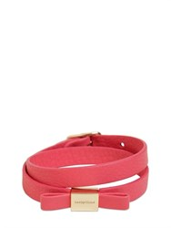 See By Chloe See By Chloe Double Wrap Leather Bracelet With Bow