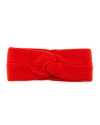 Rag And Bone Rag And Bone Alexis Twist Front Cashmere Headband Fire Red
