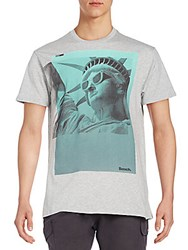Bench Statue Of Liberty Graphic Tee Grey