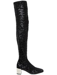 Roger Vivier 45Mm Polly Sequins Over The Knee Boots