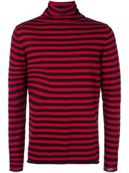 Societe Anonyme Striped Turtleneck Jumper Blue