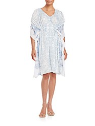Kas Malaga Pleated Kaftan Dress Blue
