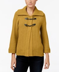Jm Collection Toggle Cardigan Only At Macy's Saffron Gold