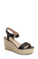 Women's Kate Spade New York 'Tarin' Platform Espadrille Wedge Sandal Black