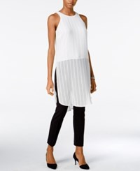 Bar Iii Sheer Textured Tunic Only At Macy's Egret