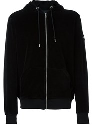 Les Artists Art Ists Zipped Arm Patch Hoodie Black