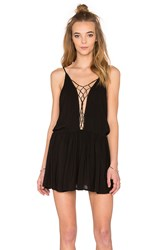Indah Sachi Mini Dress Black
