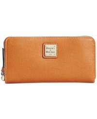Dooney And Bourke Saffiano Large Zip Around Wallet
