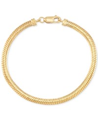 Macy's Reversible Omega Bracelet In 14K Yellow And White Gold Two Tone
