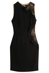 Elie Saab Stretch Cady Dress Black