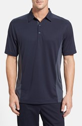 Men's Cutter And Buck 'Willows' Colorblock Drytec Polo Navy Blue Onyx