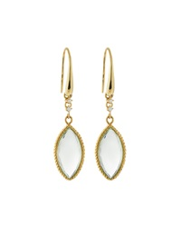 Roberto Coin Ipanema Diamond And Green Amethyst Drop Earrings