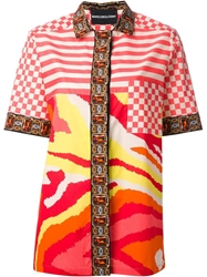 Marco Bologna Multi Pattern Blouse Multicolour