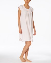 Miss Elaine Pleated Keyhole Neck Nightgown
