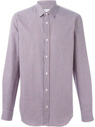 Mauro Grifoni Digital Houndstooth Shirt Red