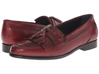 Messico Roman Red Leather Men's Dress Flat Shoes